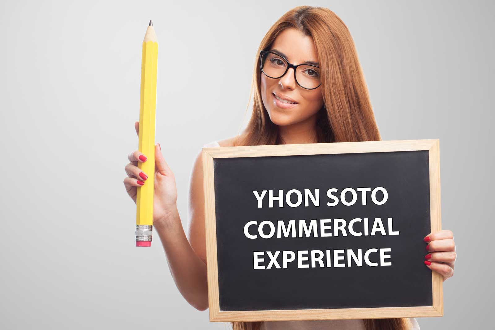 Commercial Experience By Yhon Soto